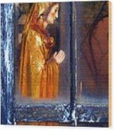 Mary In Prayer Wood Print