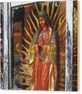 Mary In The Sun Wood Print by Mexicolors Art Photography