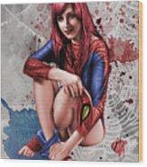 Mary Jane Parker Wood Print
