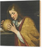 Mary Magdalene In Meditation  Wood Print
