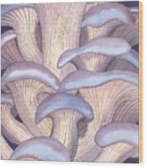 Mary Mushrooms Wood Print