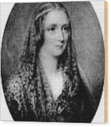 Mary Shelley, English Author Wood Print