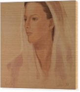 Mary The Handmaiden Of The Lord Wood Print