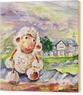 Mary The Scottish Sheep Wood Print