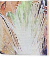 Mary Visits Elizabeth Wood Print