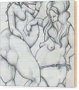 Maryanne And Regina Wood Print
