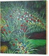 Maryann's Garden 3 Wood Print