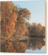Maryland Autumns - Clopper Lake - Kingfisher Overlook Wood Print