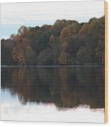 Maryland Autumns - Lake Elkhorn - Red Roof Wood Print