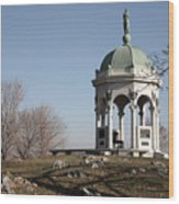 Maryland Monument At Antietam Wood Print
