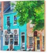 Maryland - Neighborhood Pub Fells Point Md Wood Print