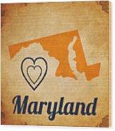 Maryland Vintage Wood Print