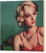 Marylin Monroe Wood Print