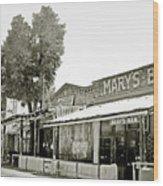 Mary's Bar Cerrillo Nm Wood Print