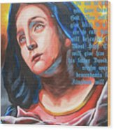 Mary's Message Wood Print