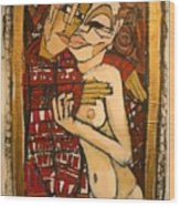 Marzipan Wood Print by Samuel Miller