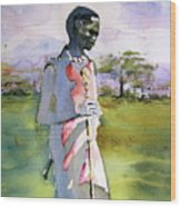 Masaai Boy Wood Print