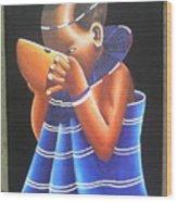 Masaai Kid Wood Print