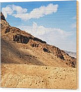 Masada Mountaintop Fortress Wood Print