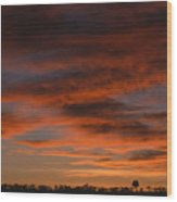 Masai Mara Sunset Wood Print