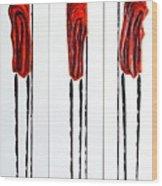 Masai Warrior Triptych - Original Artwork Wood Print