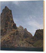 Masca Valley Entrance Panorama Wood Print