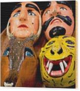 Mascaras 4 Wood Print