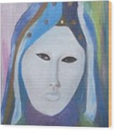 Maschera Veneziana Wood Print