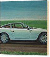 Maserati Khamsin 1974 Painting Wood Print