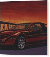 Maserati Merak 1972 Painting Wood Print