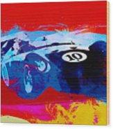 Maserati On The Race Track 1 Wood Print