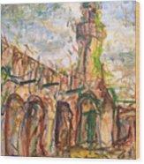 Masjed II Wood Print by Khalid Alzayani
