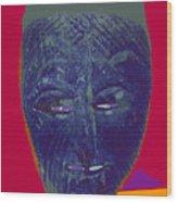 Mask 10 Wood Print