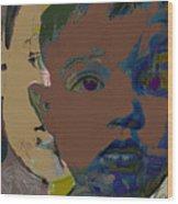 Mask 11 Wood Print