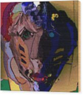 Mask 17 Wood Print
