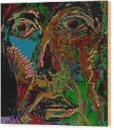 Mask 22 Wood Print