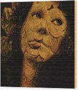 Mask 7 Wood Print
