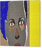 Mask 9 Wood Print