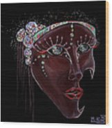 Mask Crystal Wood Print