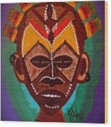 Mask IV Wood Print