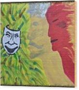 Mask Of Life Wood Print