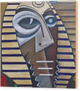 Mask Of The Enigmatic Wood Print