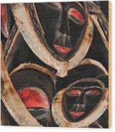 Masks Of Africa Wood Print