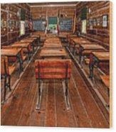 Mason Street School Wood Print