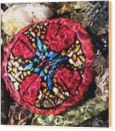 Masons Mosaic Wood Print