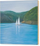 Mason's Sailboat Wood Print
