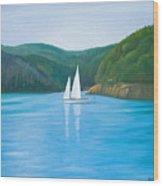 Mason's Sailboat Wood Print