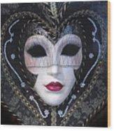 Masque Wood Print