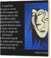 Masquerade - Poetry In Art Wood Print