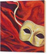 Masquerade 2 Wood Print